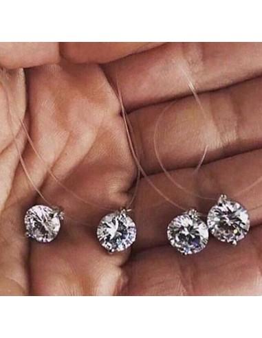 collier fil de peche diamant
