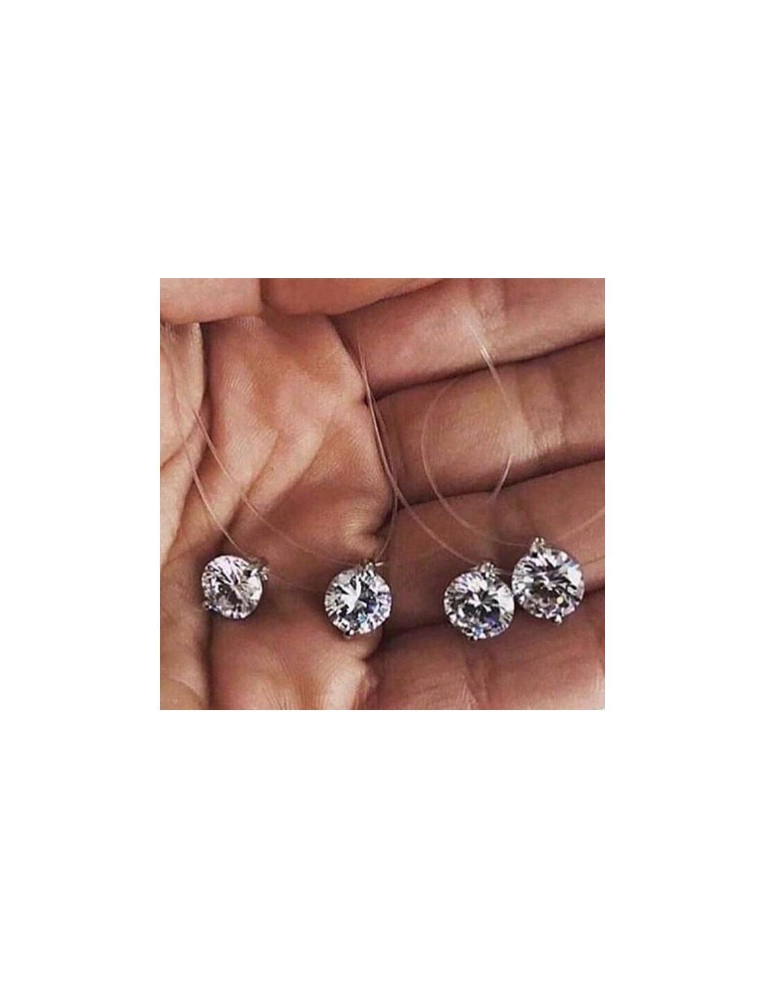 Fil De Peche Rose collier fil de peche diamant